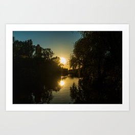 Great River Ouse from a boat (2) Art Print