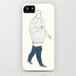girl with an ice cream iPhone Case