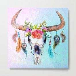 Southwest Steer Skull  Metal Print