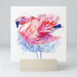 Flamingo on the Water Mini Art Print