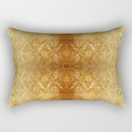 AGED GOLDEN DAMASK  Rectangular Pillow