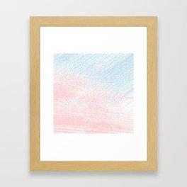 pink pastel and blue pastel Framed Art Print