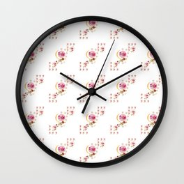 PINK BALL IN WHITE Wall Clock