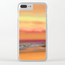 Ocean Reflections Vibrant Sunset Clear iPhone Case