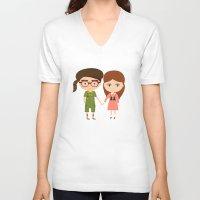 moonrise kingdom V-neck T-shirts featuring Moonrise Kingdom by Creo tu mundo