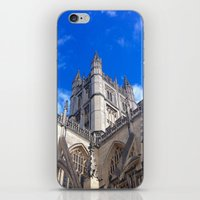 downton abbey iPhone & iPod Skins featuring Bath Abbey by Casey J. Newman
