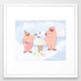 Herbert Sherbert and Rainbow Sherbert  Framed Art Print