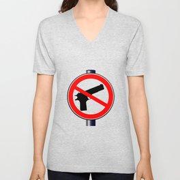 No Guns Alowed Unisex V-Neck