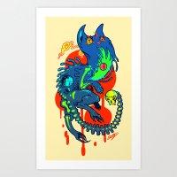 wtnv Art Prints featuring Khoshekh by Guts & Glory