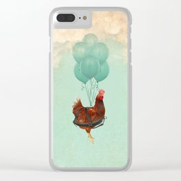 Chickens can't fly 02 Clear iPhone Case