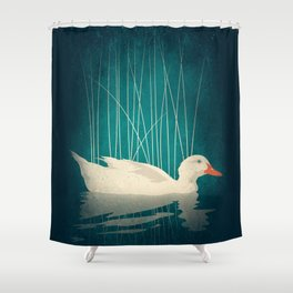 Duck Reflected Shower Curtain