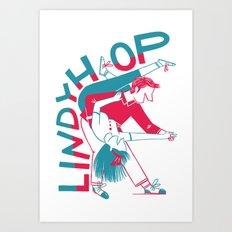 Lindy Hop - Dip Art Print