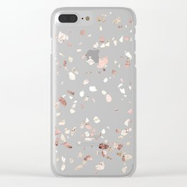 Minty Pink Clear iPhone Case