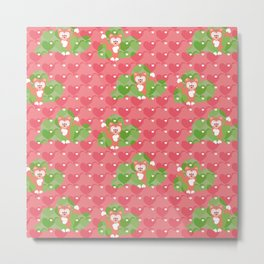 Foxes in the Strawberry patch Metal Print