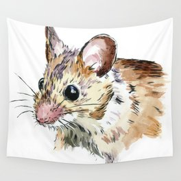 Little Brown Mouse Wall Tapestry