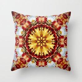 Bejewelled Chrysanthemum Throw Pillow