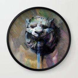 Lion Head Fountain Wall Clock