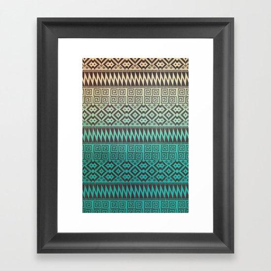 Pixel Pattern Framed Art Print
