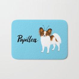 Papillon (Blue) Bath Mat