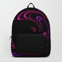 Abstract 345 Neon Swirls on Black Backpack