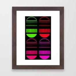 Capsules (vertical) Framed Art Print