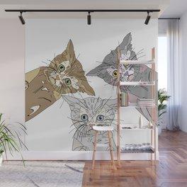 Triple Kitties - Three's Company Wall Mural