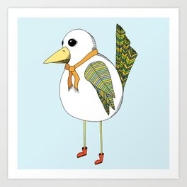 """Rainy Day Bird"" Art Print"