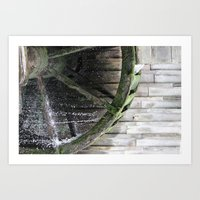 Waterwheel Art Print