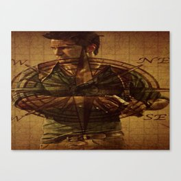 Compass of Uncharted Lands Canvas Print