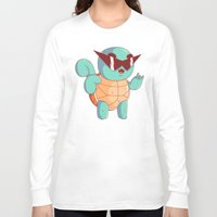 squirtle Long Sleeve T-shirts featuring Squirtle by Daniel Mackey