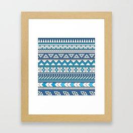 Pattern's of Calm line Framed Art Print
