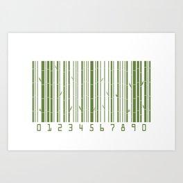 Bamboo Barcode Art Print