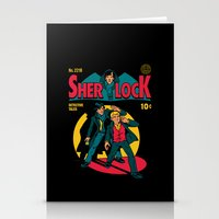 tintin Stationery Cards featuring Sherlock Comic by harebrained
