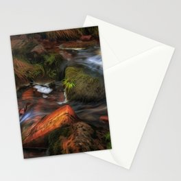 Colours of Autumn in a Brecon stream Stationery Cards