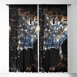 North America and the United States aerial view from outer space color photography / photographs Blackout Curtain