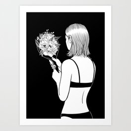 Fall in love with myself first Art Print