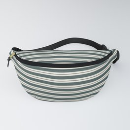 Night Watch PPG1145-7 Horizontal Stripes Pattern 1 on Horseradish Off White PPG1086-1 Fanny Pack