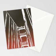Golden Gate Bridge - Woodcut Stationery Cards