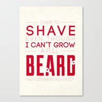 beard Canvas Prints featuring Beard by PaulWorm