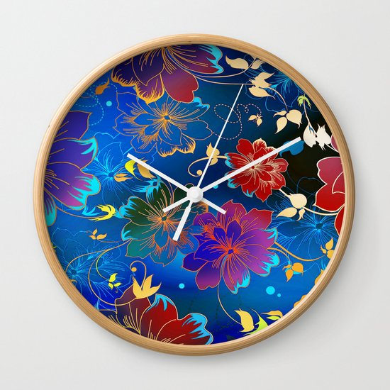 Floral Pattern 2 Wall Clock