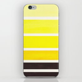 Yellow Minimalist Mid Century Modern Color Fields Ombre Watercolor Staggered Squares iPhone Skin