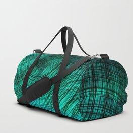 teal turquoise circles Duffle Bag