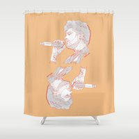 zayn Shower Curtains featuring Zayn by heyitsmme