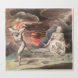 CAIN FLEEING FROM THE WRATH OF GOD - William Blake Canvas Print