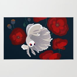 Bettas and Poppies Rug
