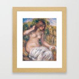 Woman by Spring - Pierre-Auguste Renoir Framed Art Print