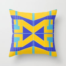 Go Blue Throw Pillow