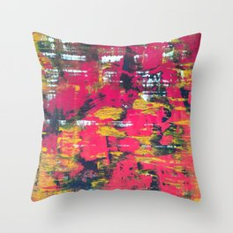 Color Splotches Throw Pillow