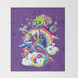 Rainbow Apocalypse Throw Blanket