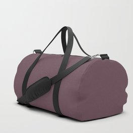 Dark Plum, Solid Color Collection Duffle Bag